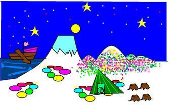 よるの富士山に人がきたよ.jpg